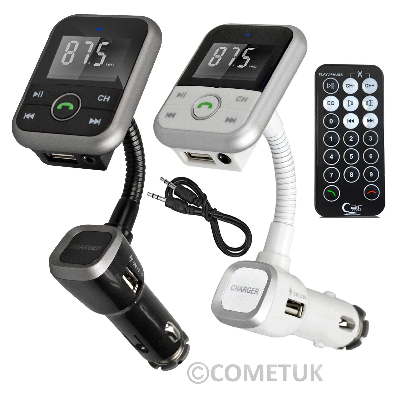 Wi-fi Bluetooth Automobile MP3 Participant FM Transmitter Radio LCD SD USB Charger Package