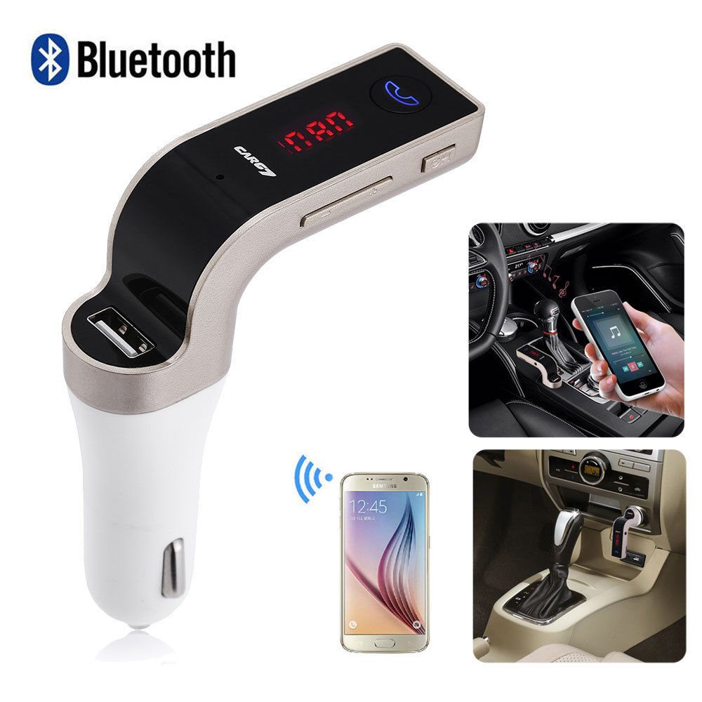 bluetooth car kit wireless fm transmitter usb lcd charger. Black Bedroom Furniture Sets. Home Design Ideas