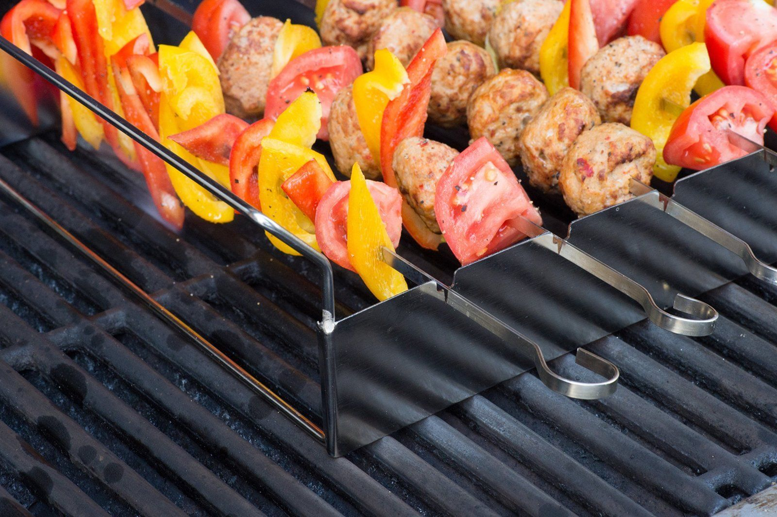 Shish Kabob Grilling Rack with 6x37cm Skewers (BBQ Equipment) – Barbecue Stain
