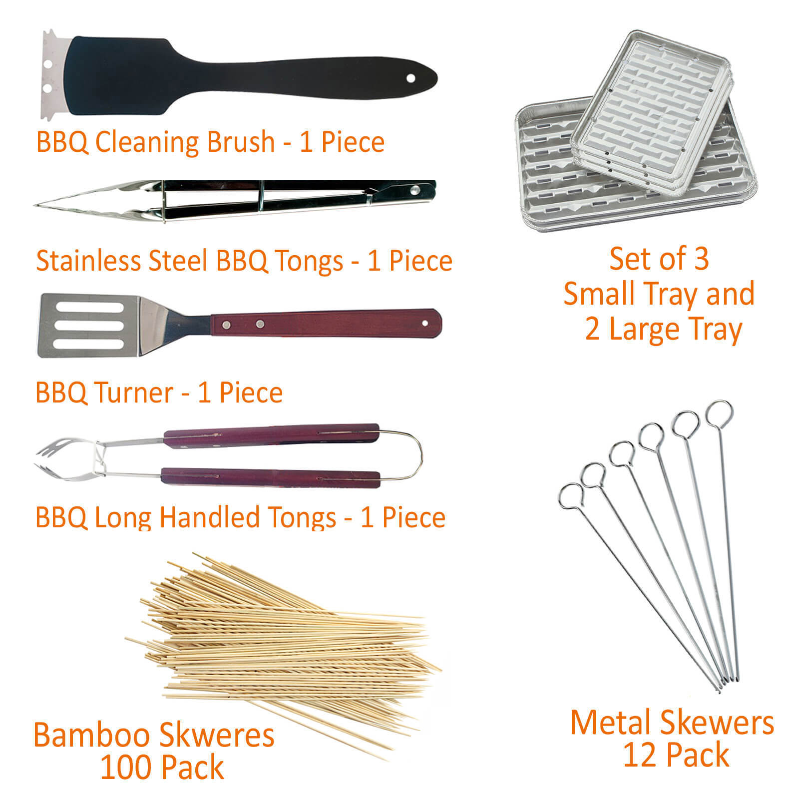 7 in 1 Barbecue Tool Set