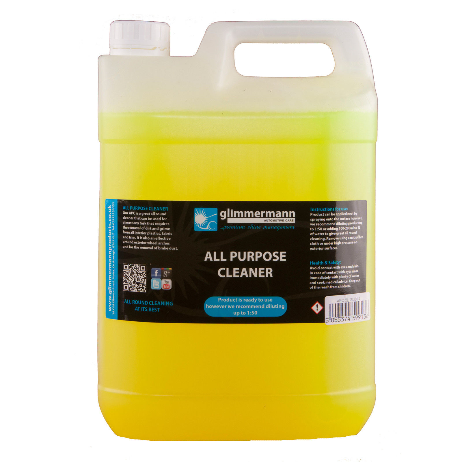 Professional Automobile Valet All Multi Function Cleaner Concentrated Heavy Obligation 5L Glimmermann