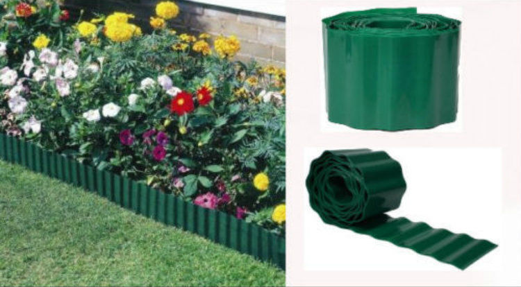 15cmx 30m Green Plastic Edging Garden, Flower Beds -Lawn Edge Border Fence Wall Path New