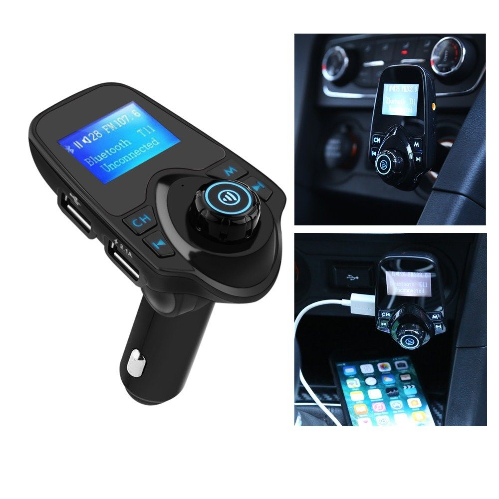 Wi-fi LCD Bluetooth Automobile MP3 FM Transmitter AUX USB Disk Charger Handsfree Package