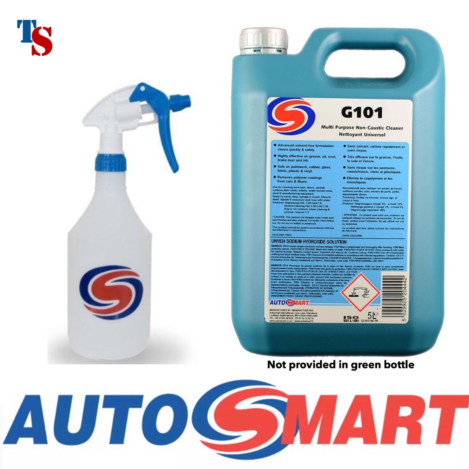 autosmart g101 5l 5 litre as spray multi objective cleaner automotive residence genuine new. Black Bedroom Furniture Sets. Home Design Ideas