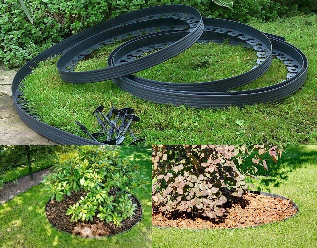 garden garden edging versatile plastic garden border 10m 60 pegs paths lawns - Plastic Garden Edging