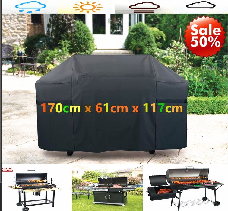 170cm Massive BBQ Cowl Waterproof Barbecue Covers Garden Patio Grill Protector