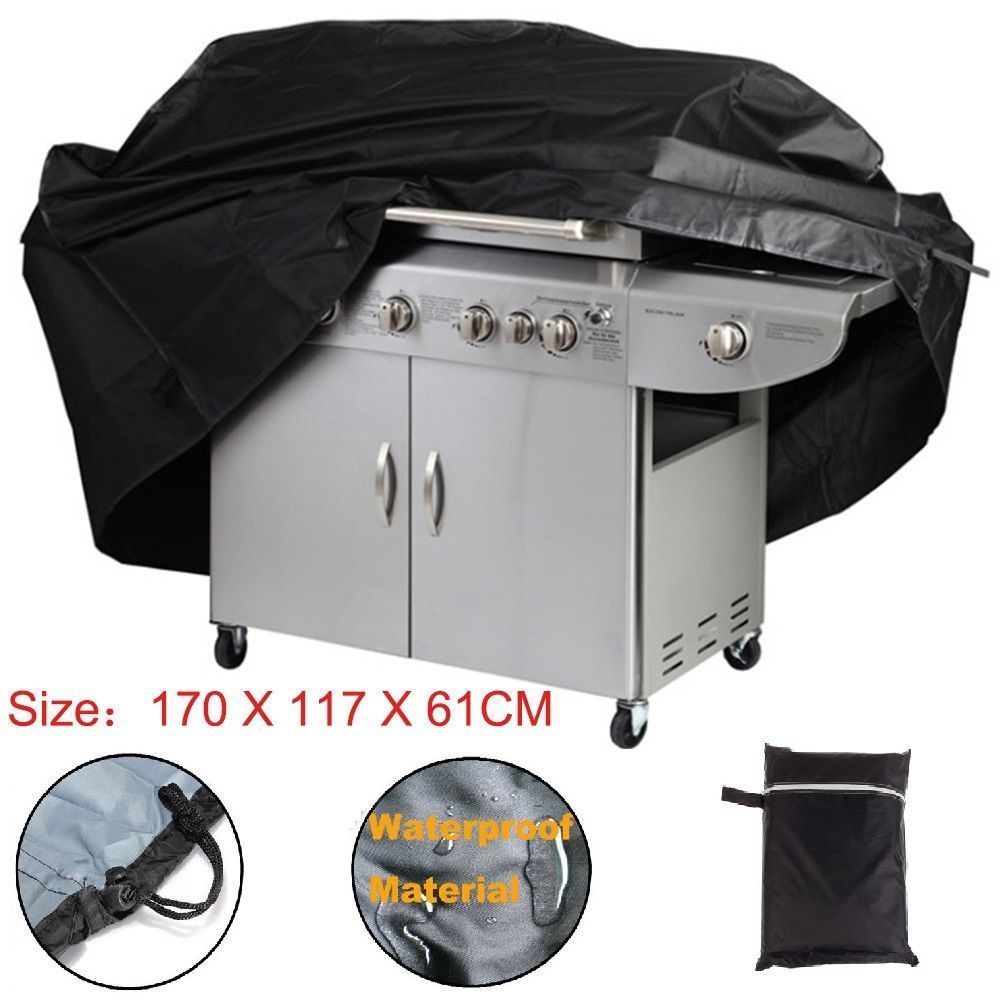 170CM BBQ Cowl Out of doors Waterproof Barbecue Covers Garden Patio Grill Protector