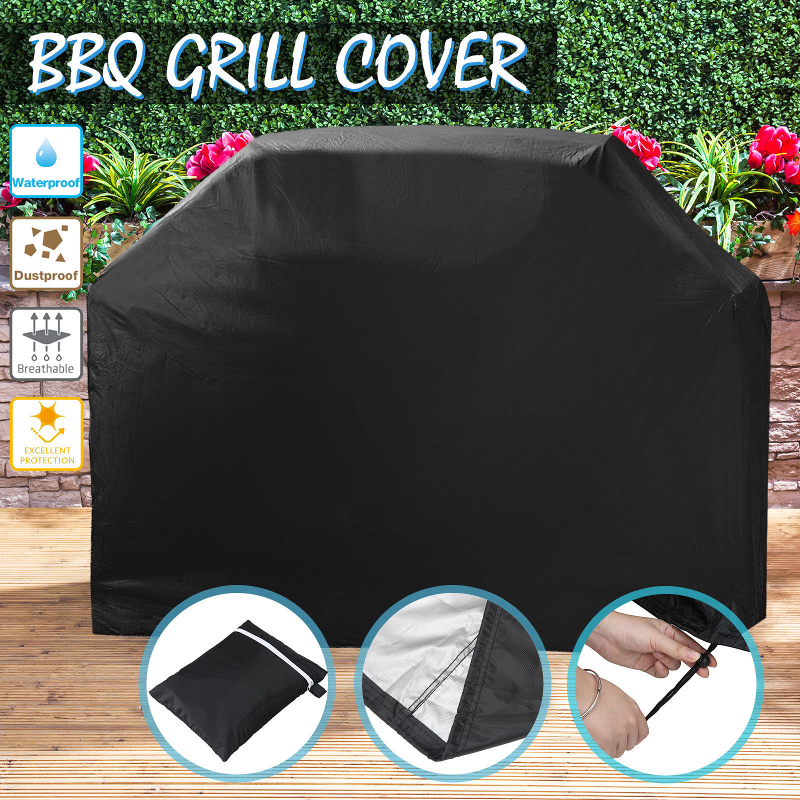 Additional Massive BBQ Cowl Heavy Obligation Waterproof Barbecue Garden Grill Protector 170