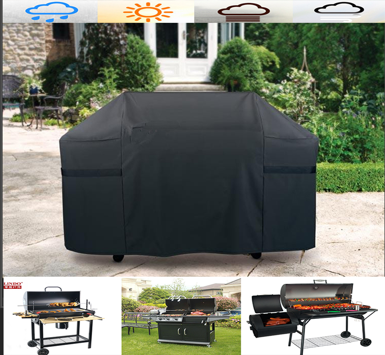 145cm BBQ Cowl Outside Waterproof Barbecue Covers Garden Patio Grill Protector