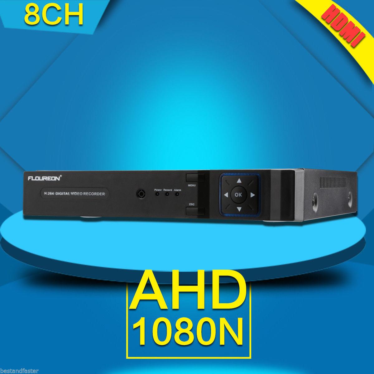 FLOUREON CCTV 8CH 5 IN 1 1080N HDMI P2P DVR surveillance Digital camera  Video Recorder Cloud