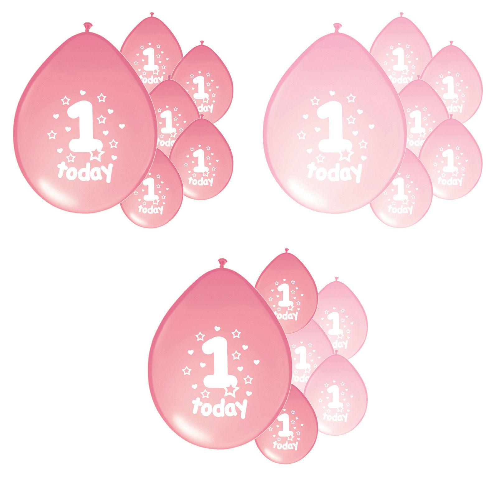 1ST BIRTHDAY BALLOONS X 10