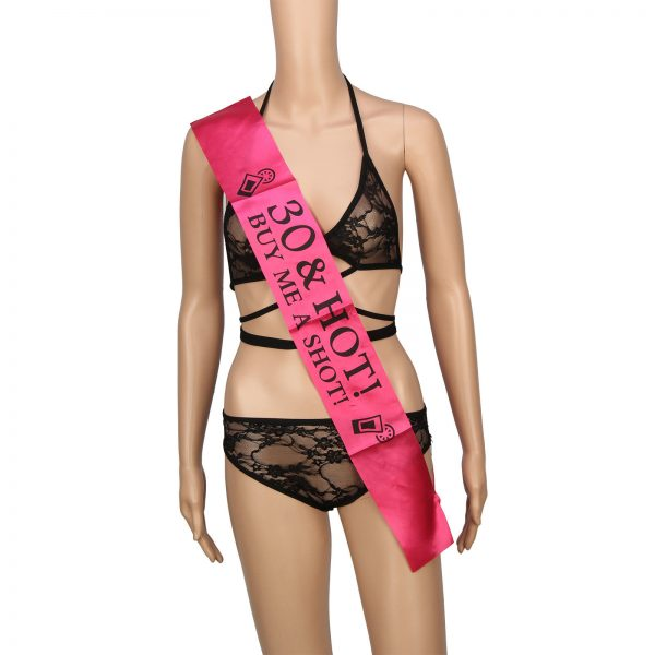 Scorching Pink 30 & Scorching Purchase Me A Shot Birthday Sash 30th Social  gathering Sashes Novelty Present
