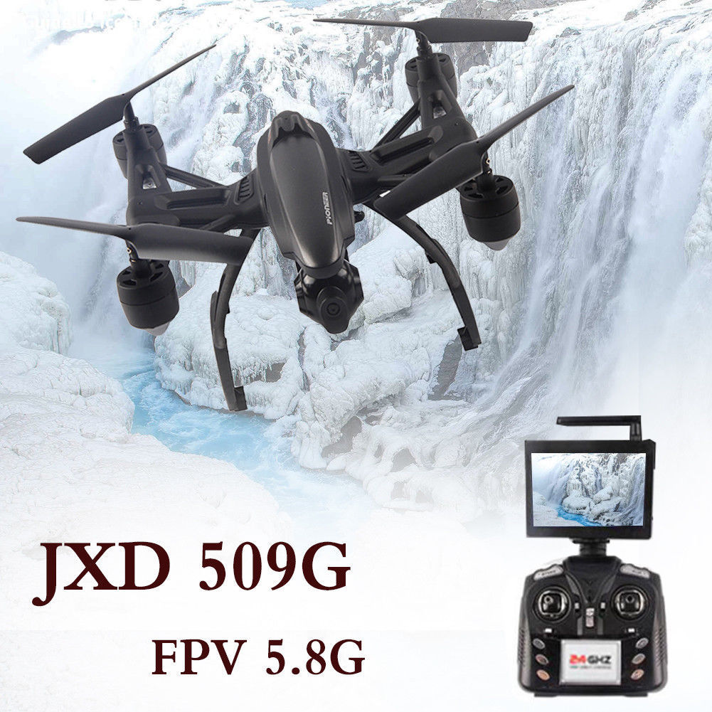 Black JXD 509G RC Quadcopter Drones 6-Axis 4CH Gyro FPV 5.8G with HD Digicam