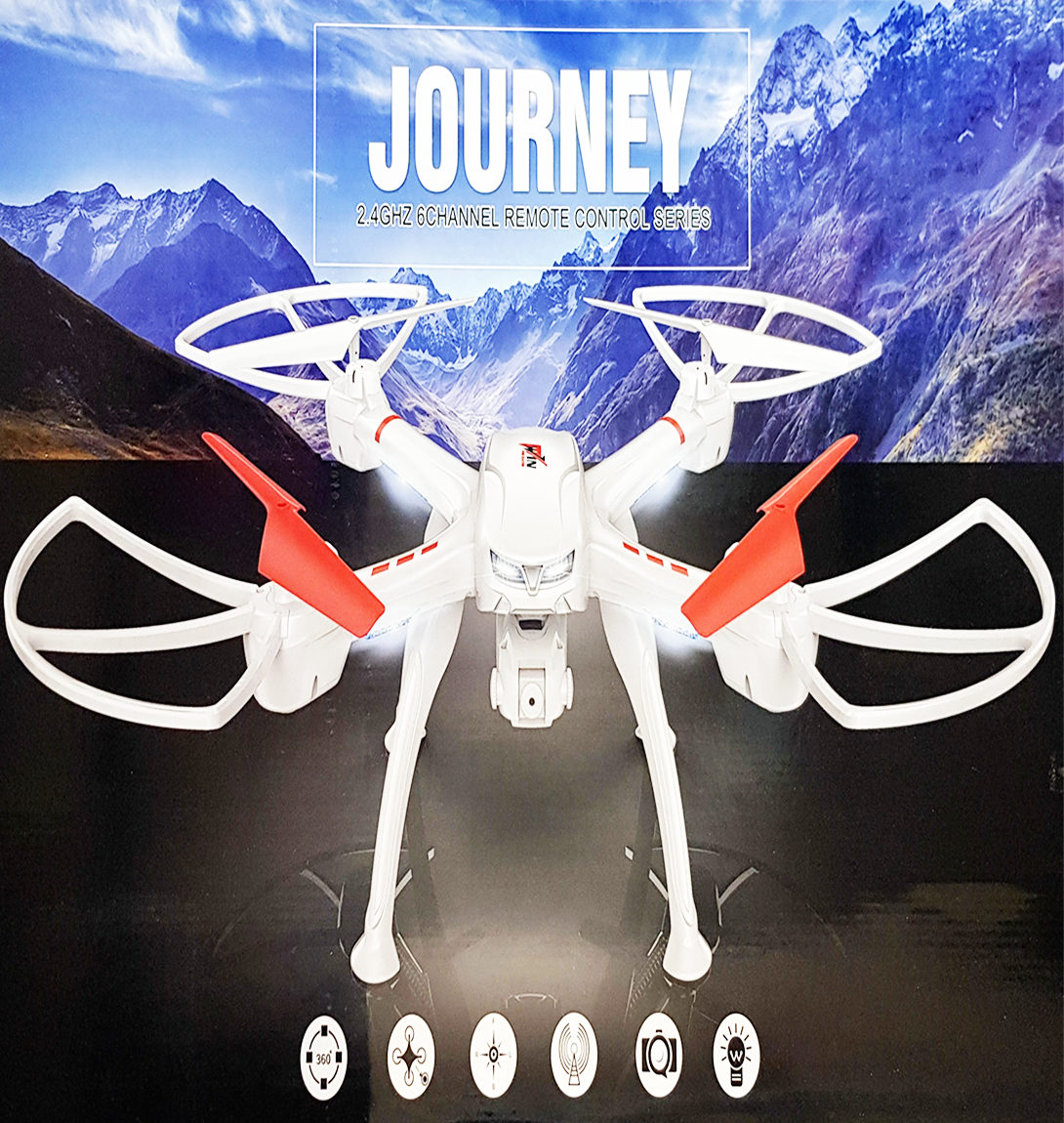 JOURNEY S50 FPV Headless RC Quadcopter Drone 1080P Digicam GPS Comply with Me RTF