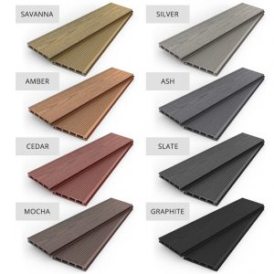 2.8m Slate Woodgrain Composite WPC Decking Trim DELIVERY NATIONWIDE