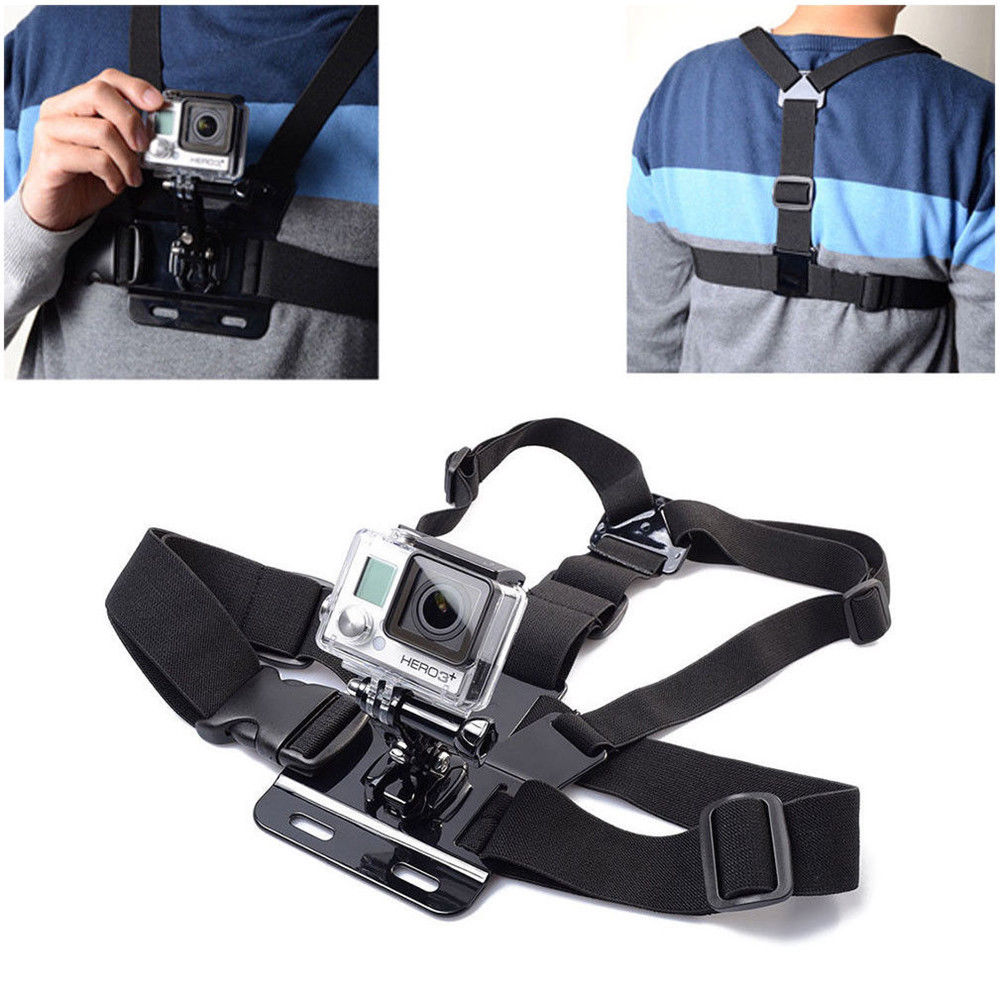 Physique Chest Strap Harness For GoPro Mount Assist GoPro Hero Sports activities Activity Digital camera