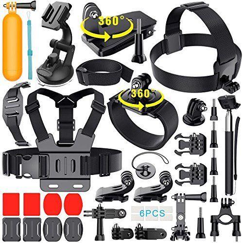 39-in-1 GoPro Tools Tools Vital Hero 5 Black 4/three/2/1 HD Movement Electrical digicam