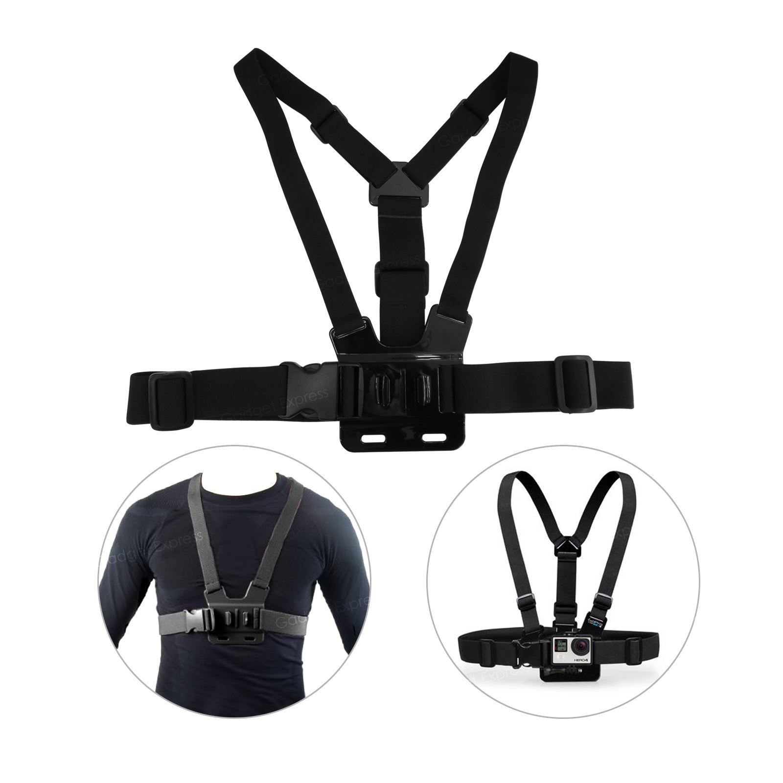 Adjustable Chest Strap For GoPro journey Skilled Digitised digital camera Elastic Mount Hero 2 three three+ 4 5 6