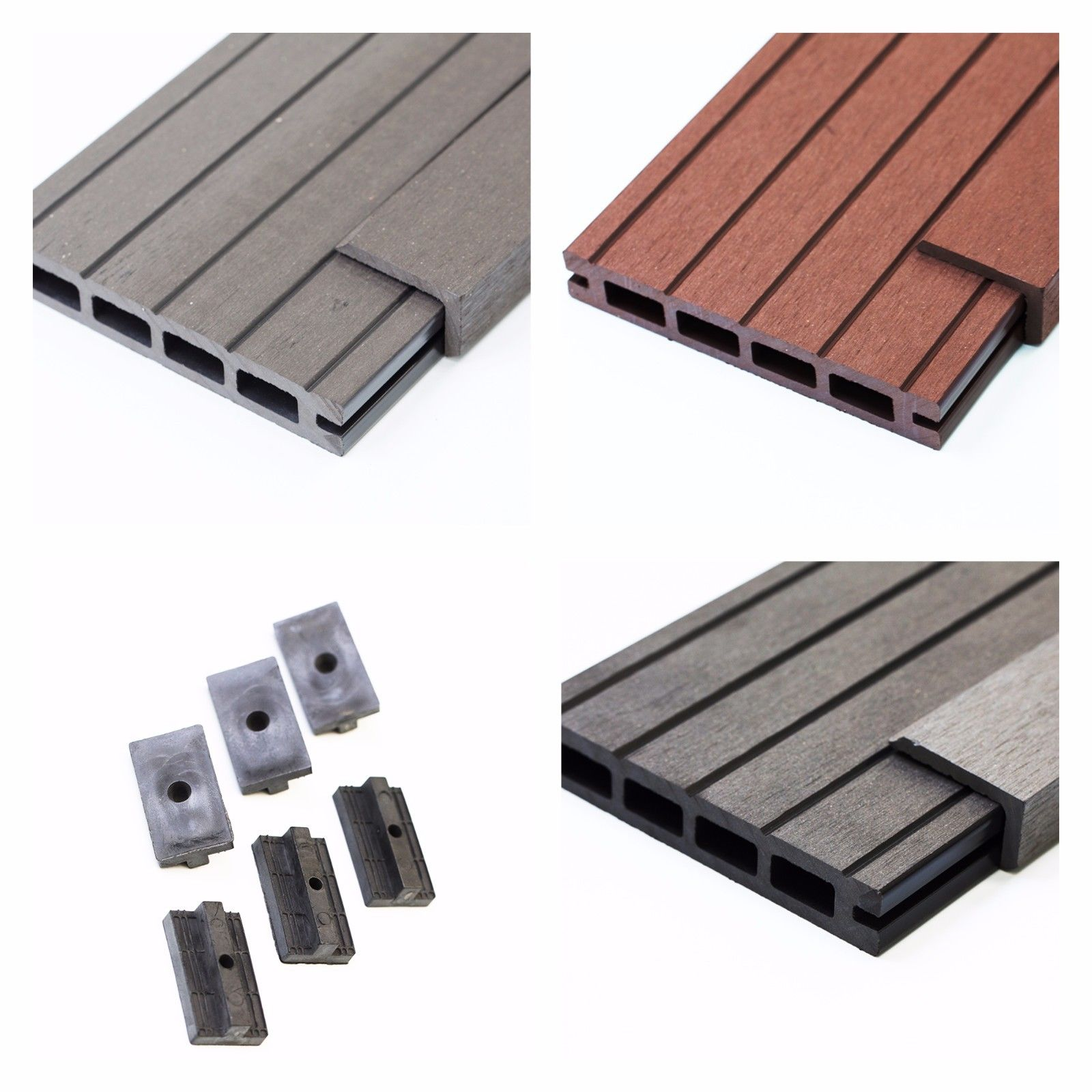 15 Sq. Metres of Wood Composite Decking Inc Boards, Edge & Repairing Packs
