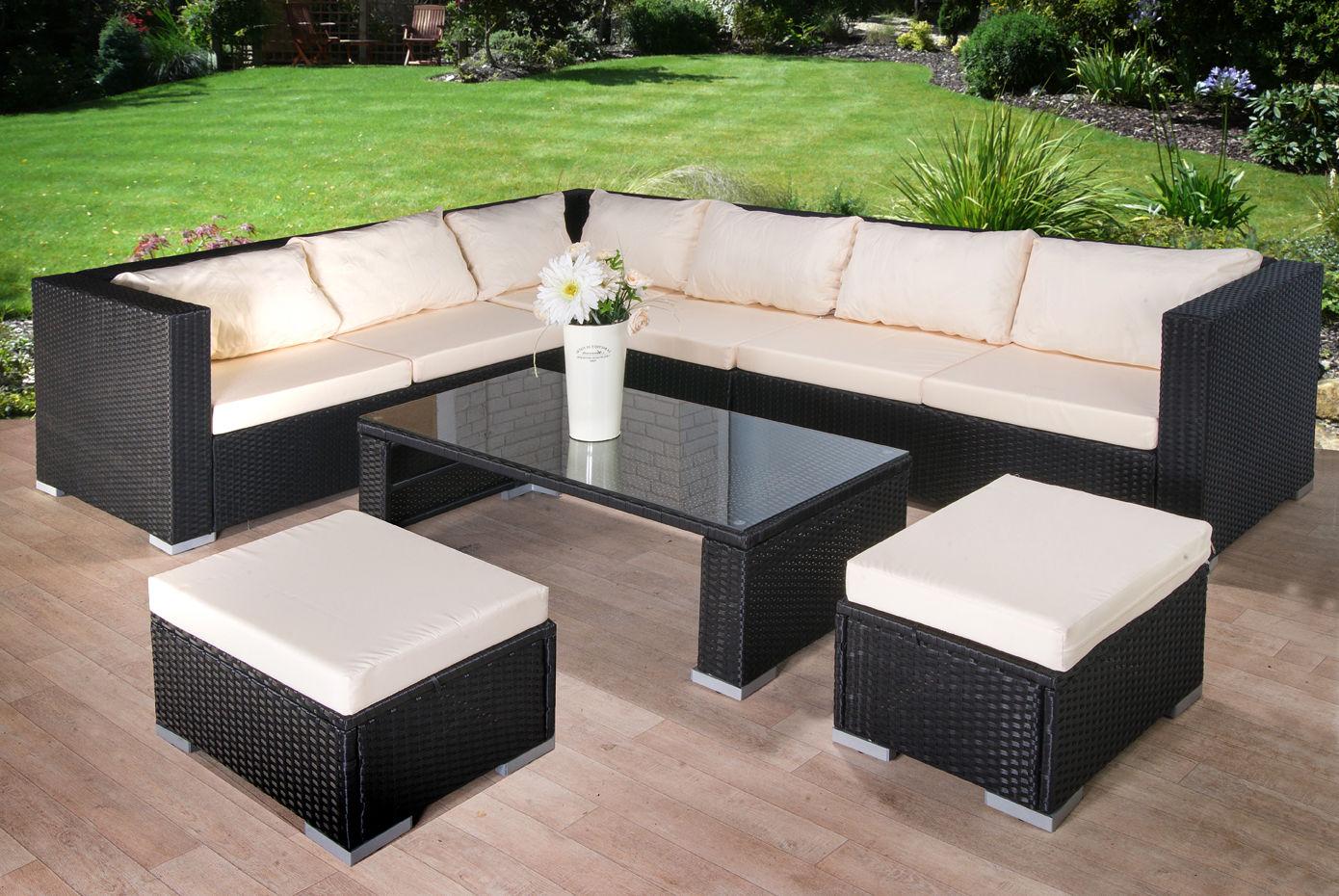 Modern rattan garden furniture sofa set lounger eight seater outdoor patio furniture