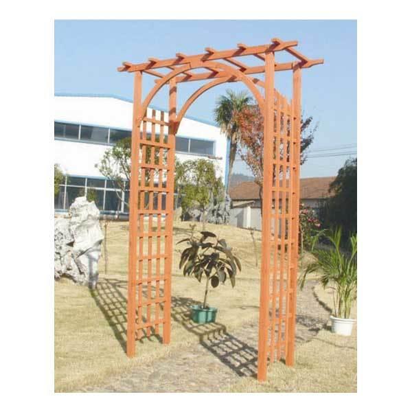 Fuchsia FSC Wooden Fir Garden Arch Plant Climber Rose Trellis Archway Pergola