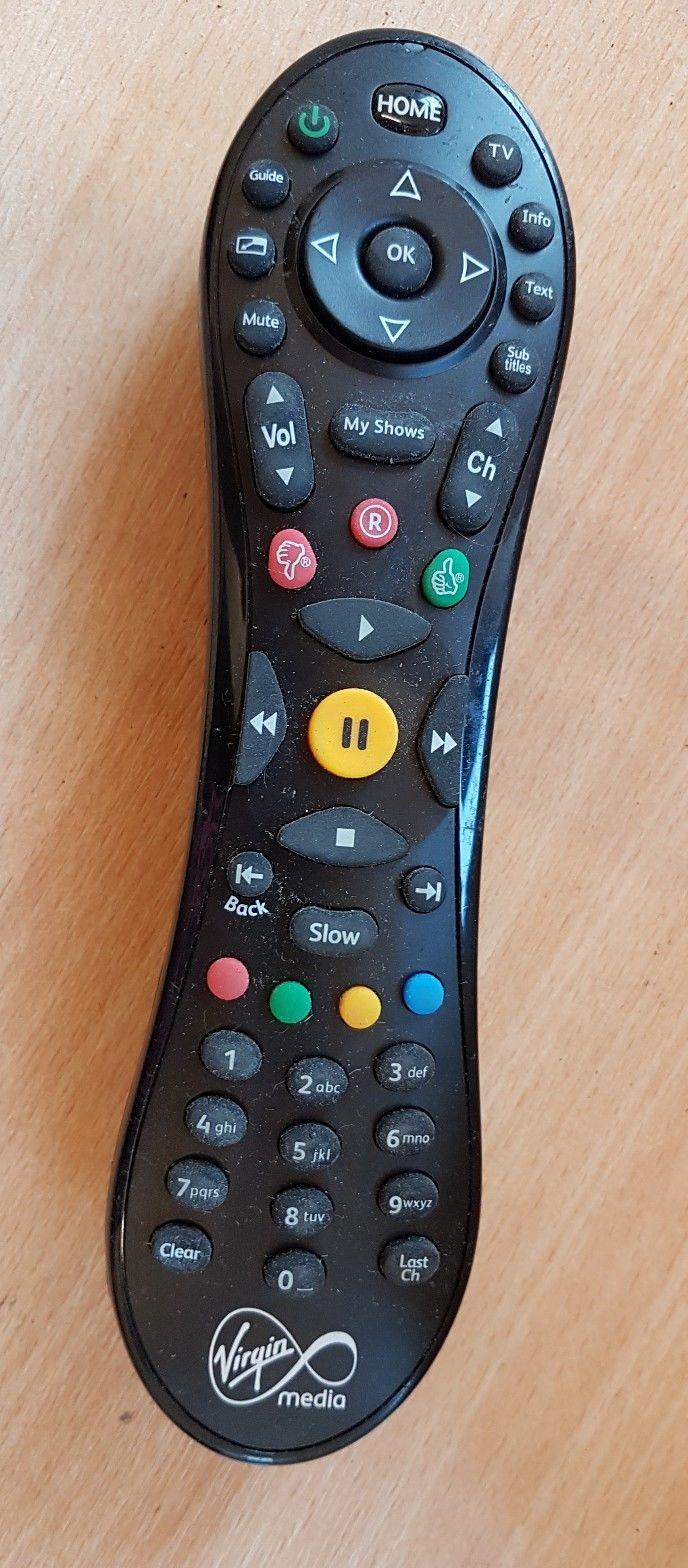 Actual TiVo HD Virgin Media V6 Remote Control