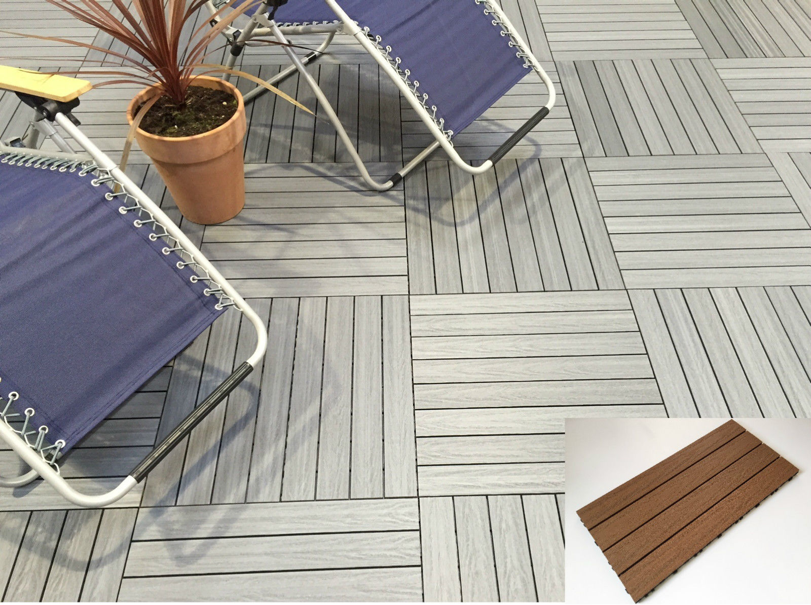 Wooden Composite Decking Tiles – No Staining – Uncomplicated Lay – Uncomplicated Tidy – DIY