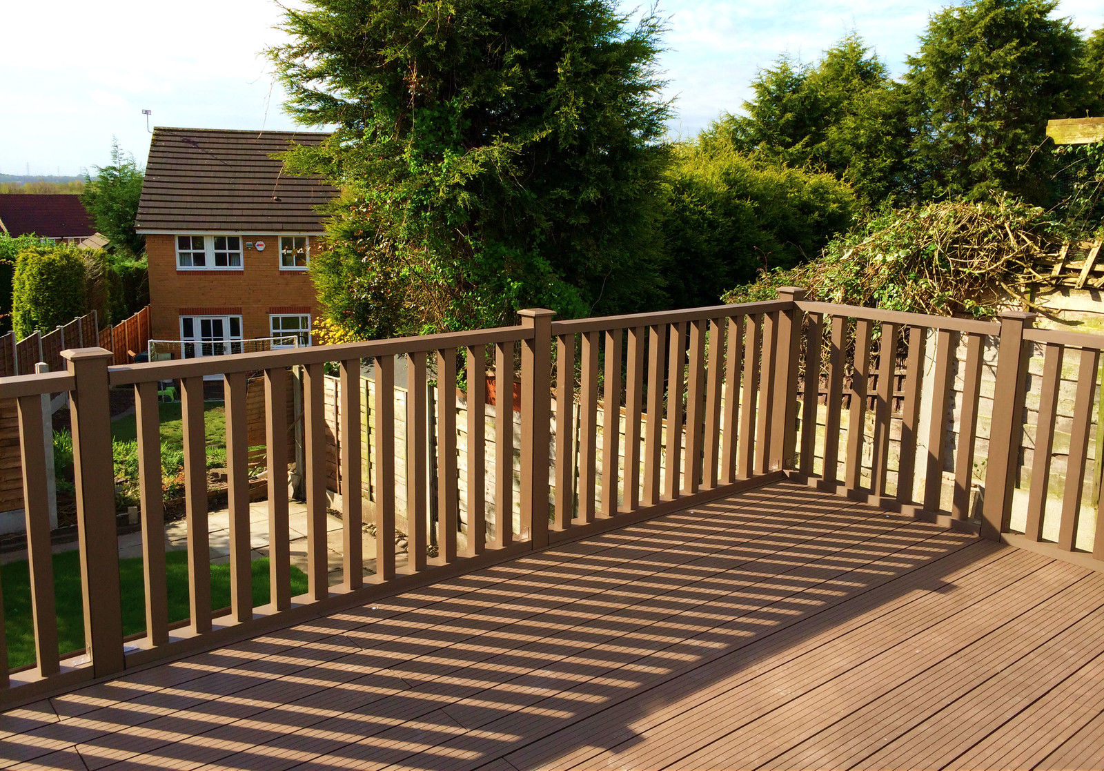 Composite Readability Balustrade Pattern Box Wooden PVC Composite Ecoscape Uk