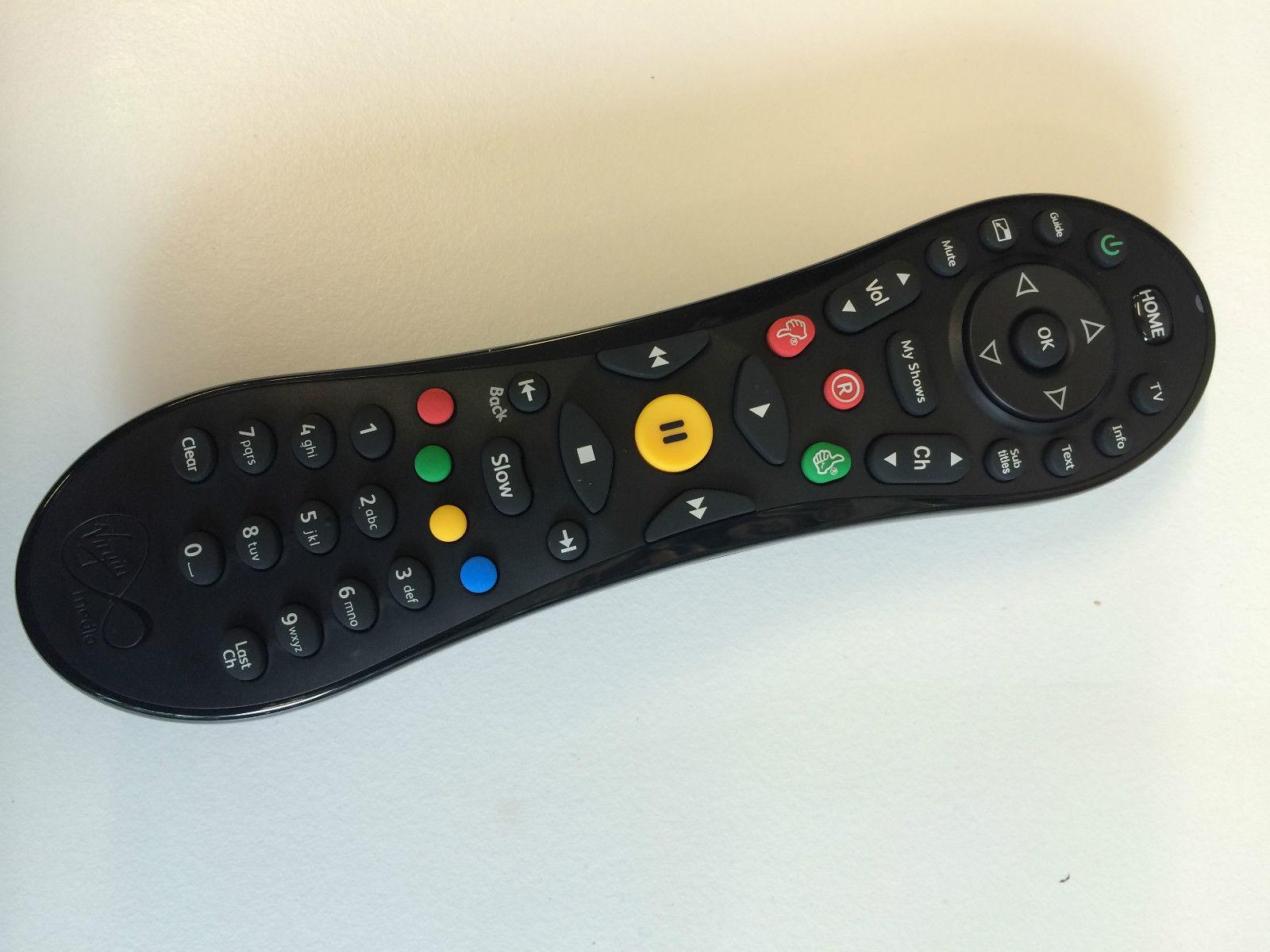 2 x Genuine TiVo VIRGIN MEDIA CABLE REMOTE CONTROL HD V+ PVR V PLUS