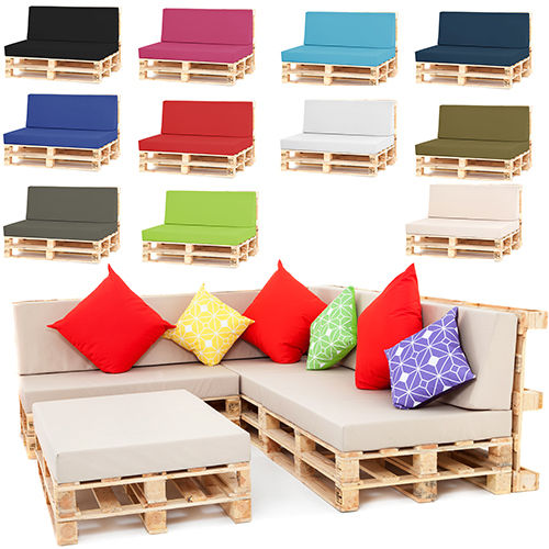 Pallet Seating Garden Furnishings DIY Modern Foam Cushions with Water-proof Covers