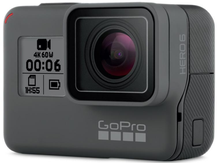 GoPro Hero6 Black Exercise Digicam Touchscreen 12MP 5GHz Wi-Fi Water-resistant