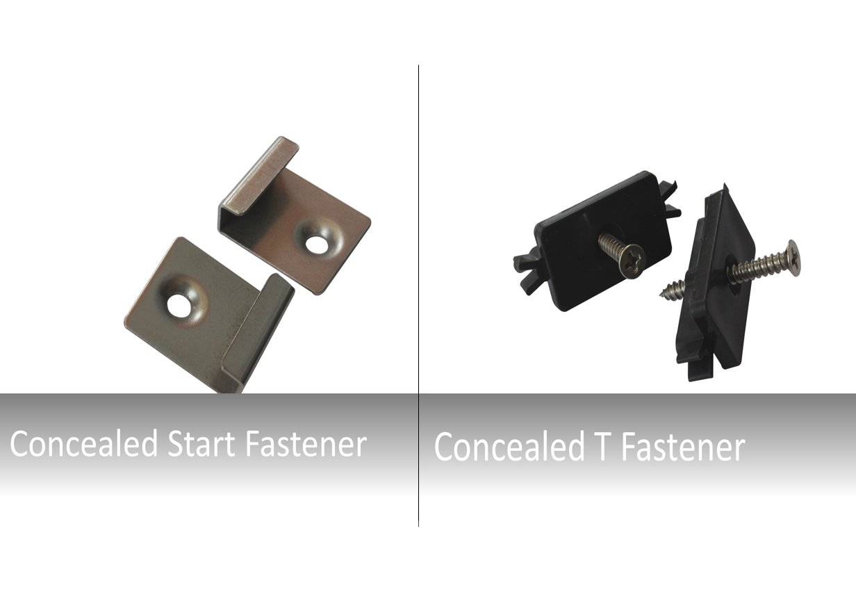 Resilient Composite Decking Plastic-type T Clips Starter Clip Fixings