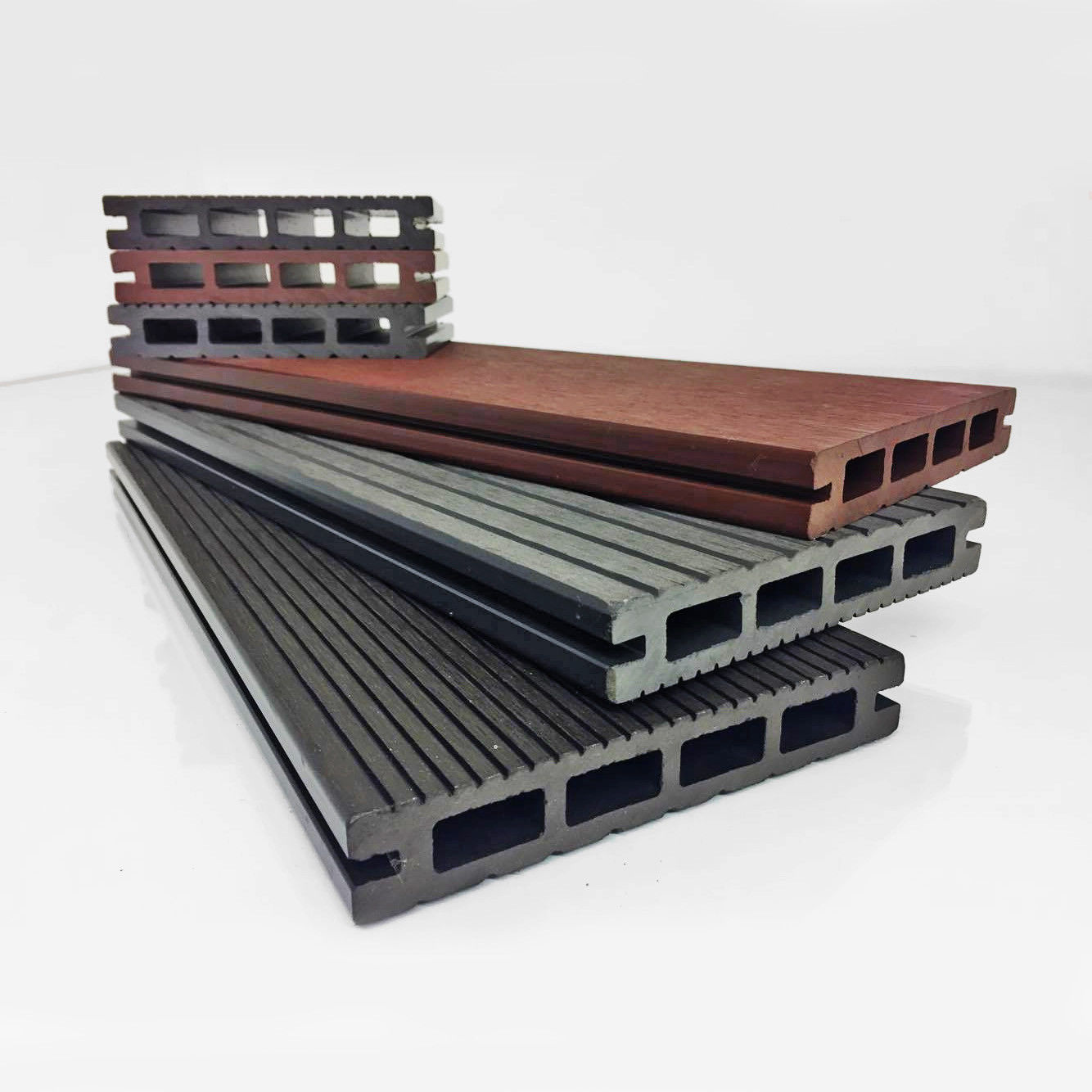 Composite Pretend Plastic-type Decking Boards – three Colours – Completely free Fittings Completely free Supply