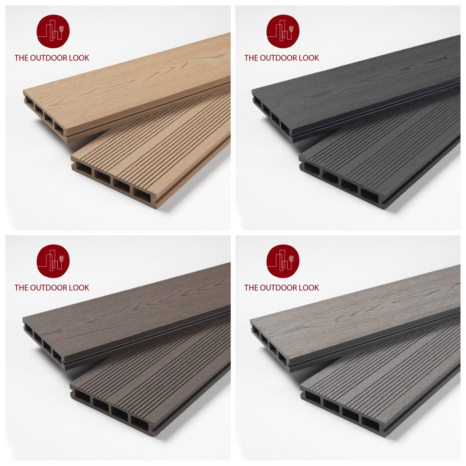 Composite Decking Fashionable Assortment – 4 colours Obtainable – two.9m/three.60m boards.