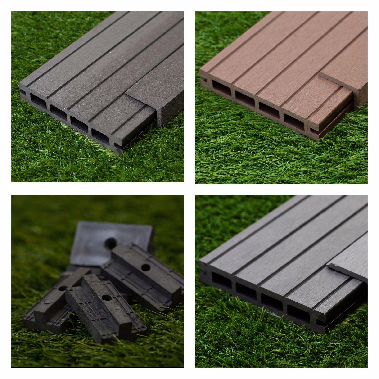 31 SqM of Wooden Composite Decking Inc Boards, Edging & Repairing Packs