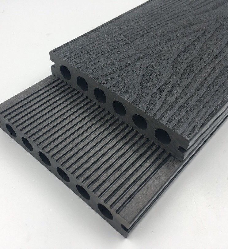 Composite Decking Boards two.4 m Size Solely £11.99 Completely free P&P* Gray Anti Slip