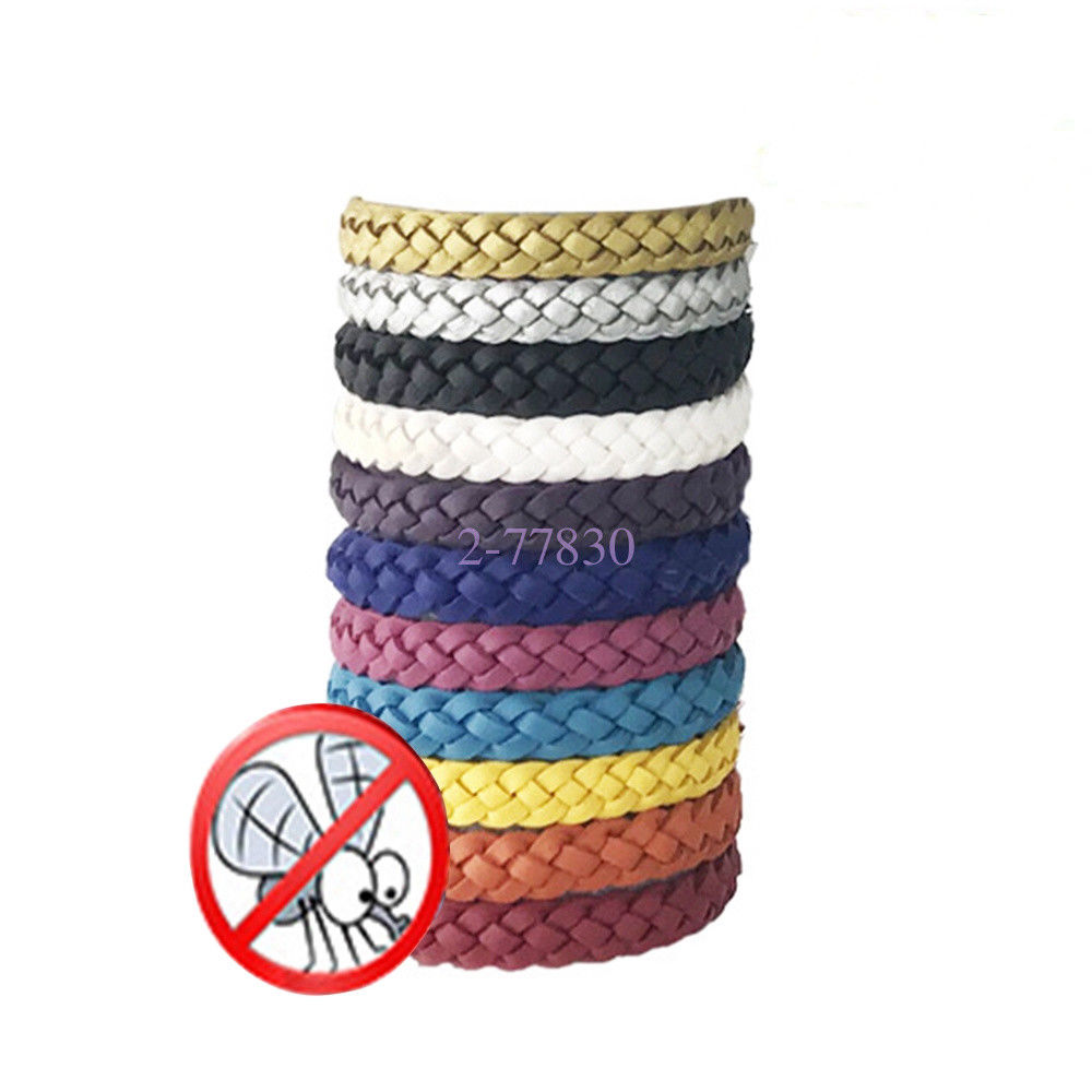 10Amount Anti Bug Pest Resistant Bracelet Pure Leather-based-based Weave Wrist Bands