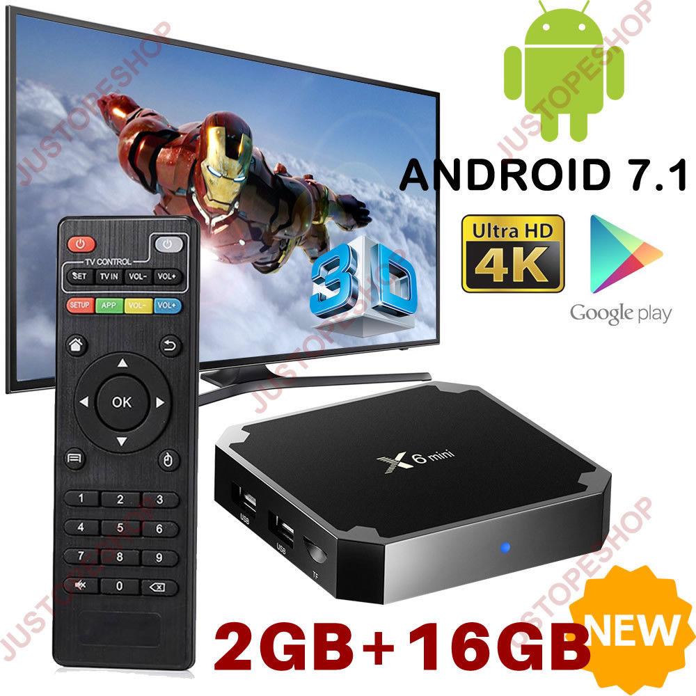 X96 Mini 2GB+16GB Android 7.1 TV Subject Smart HD Neighborhood Media Participant Quad Core British isles