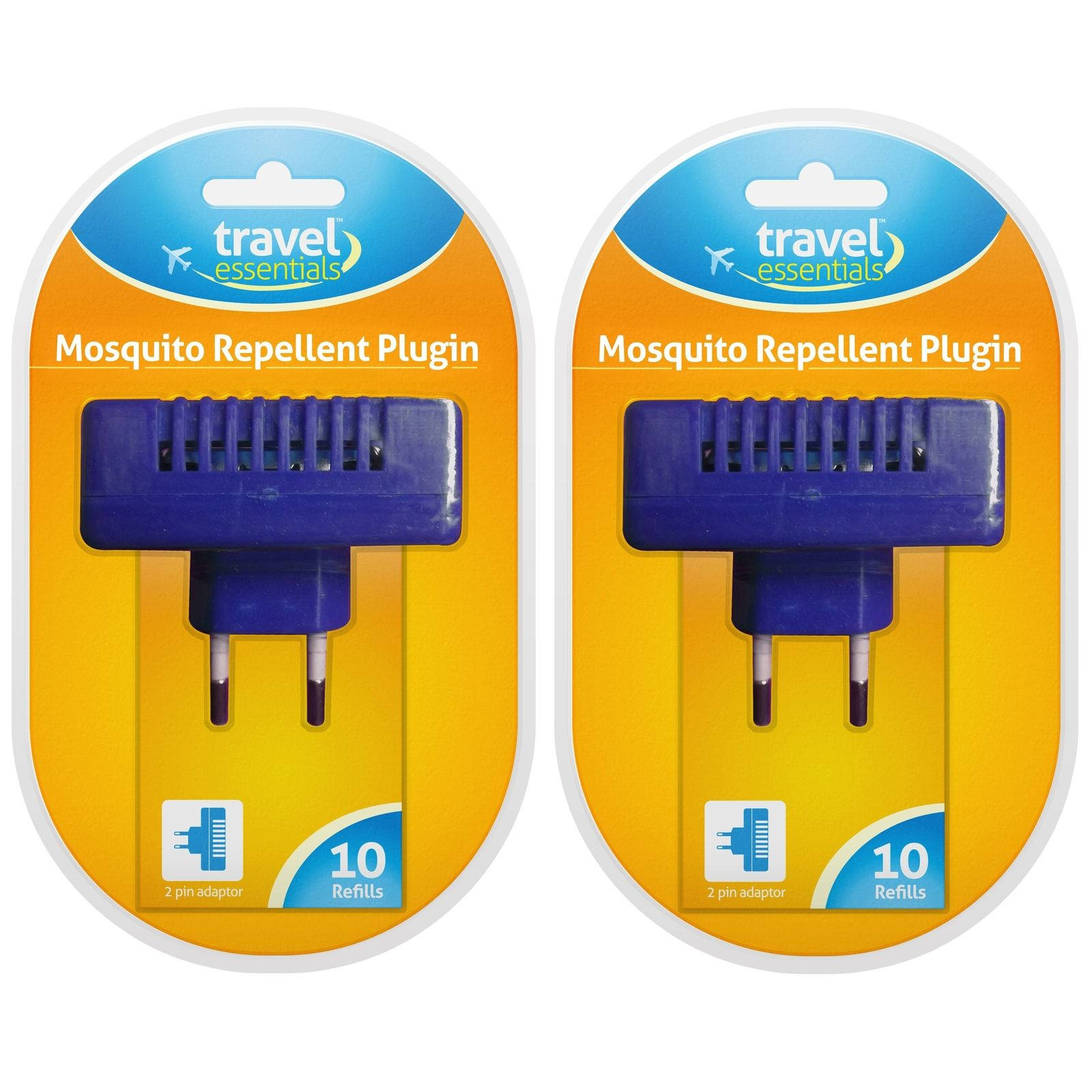 2 x Plug-in Two Pin European Plug – Bug & Parasite Resistant With Refills