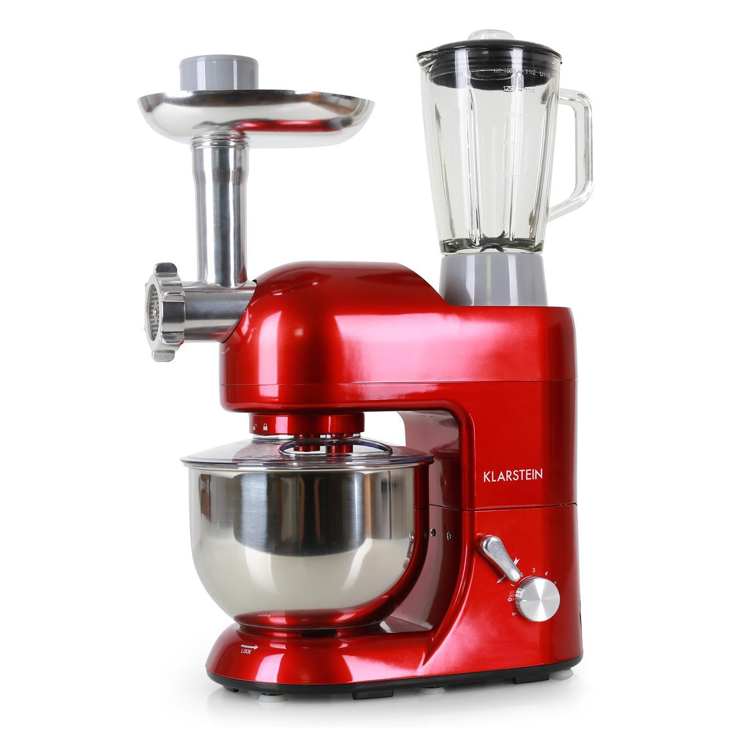 RED TABLE TOP STAND MIXER ELECTRIC BLENDER FOOD PROCESSOR MEAT MINCER 10W NEW
