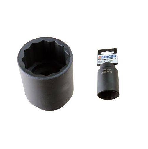 "BERGEN Professional 36mm DEEP IMPACT SOCKET half of"" drive 12 level bi hex design"