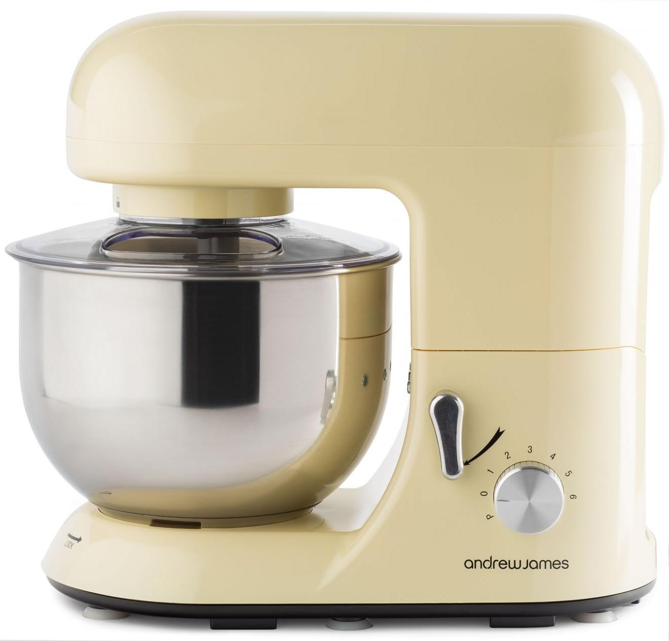 Andrew James 5.2L Electrical Meals Stand Mixer & Meals Guard In Basic Cream