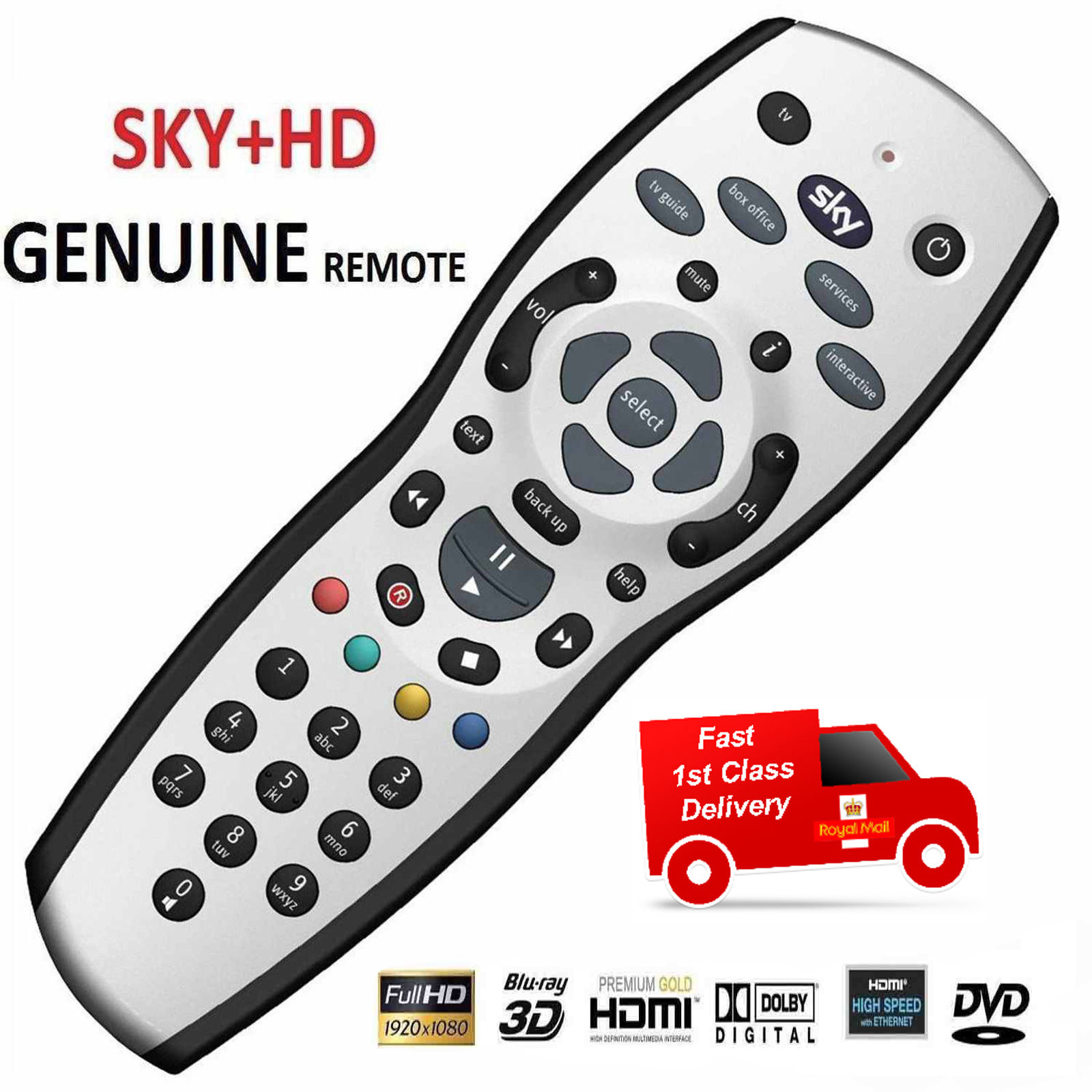 NEW SKY + PLUS HD REV 9 REMOTE CONTROL GENUINE REPLACEMENT HQ