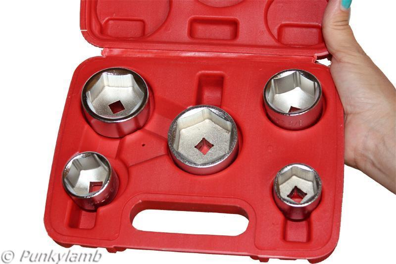 """Oil Filter Socket Set Elimination Software three/eight"""" Drive 24, 27, 32, 36, 38mm Low Profile"""
