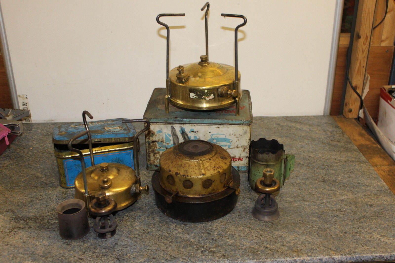 Job Lot of three parrafin stoves go well with collector