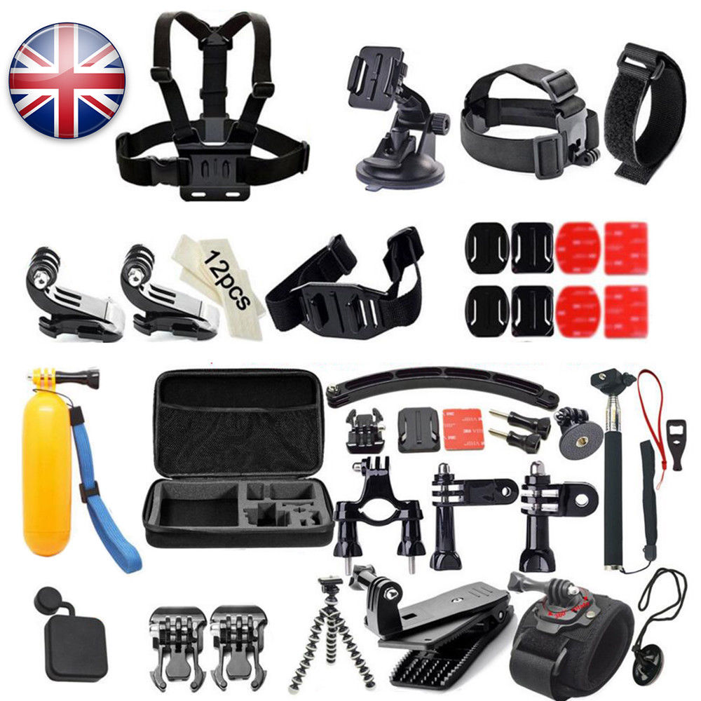 51 in 1 Tools Tools for GoPro4 three+three Exercise Digicam Bundle Set Pole Head Chest