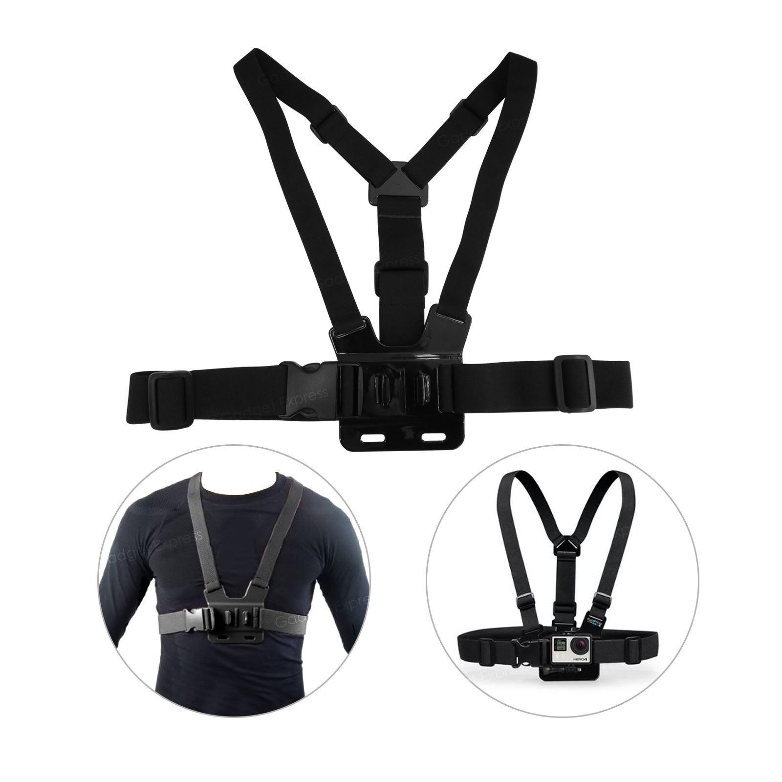 Adjustable Chest Strap For GoPro journey Skilled Digitised digital camera Elastic Mount Hero 2 three three+ 4 5 6