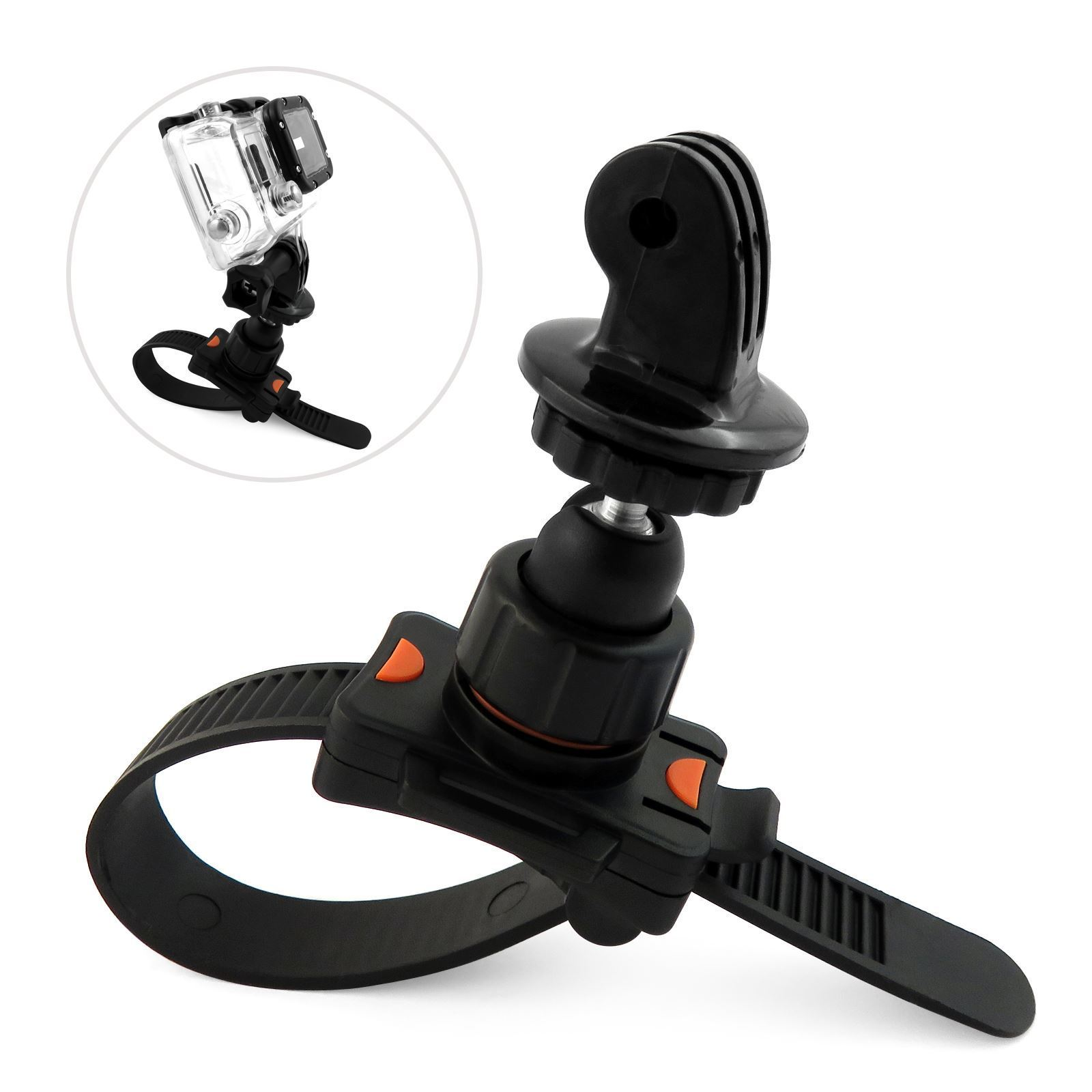 Roll Bar Zip Mount For GoPro Hero 1 2 three three+ four 5 Matches Cage Handlebar Seatpost Bike