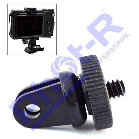 "Phot-R quarter inch"" Tripod Screw Adapter Mount any Peculiar Digicam to GoPro Hero 5 4 three+"
