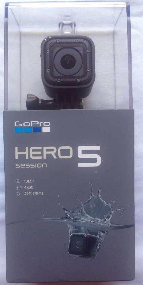 GoPro HERO5 Session Digicam 10MP 4k HD Conduct Wi Fi Water-proof Black BNIB